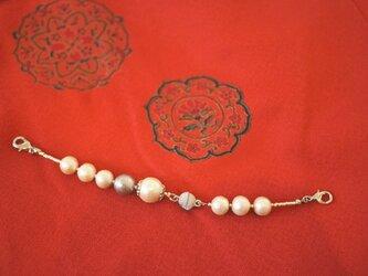 Bijoux*haorihimo*2WAYブレス コットンパールの画像