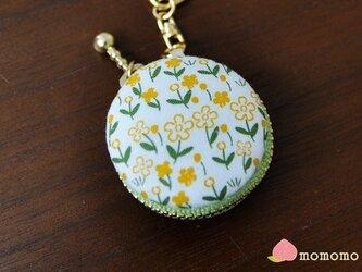お花柄♪マカロンコインケース キーホルダーの画像