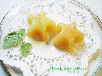 黄色とオレンジのグラデーション☆キャンドルの画像