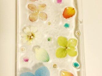 o様オーダー♪シンプルな花で大人かわいいIPHONE5ケース♪の画像