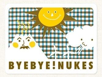 NO NUKES ステッカー *茶のチェックの画像