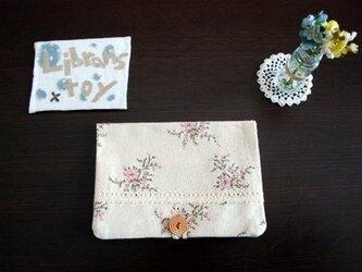 【5周年記念#セール★】通帳キャッシュカード入れ<花>の画像