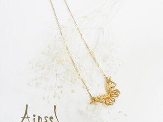 バタフライネックレス(gold)の画像