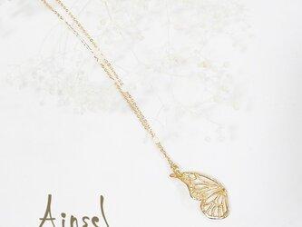 片羽のバタフライネックレス(gold)の画像