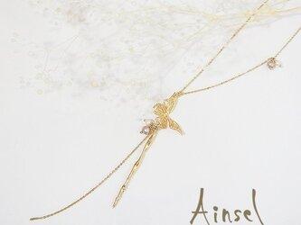 フライングバタフライネックレス(gold)の画像