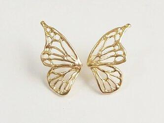 片羽のバタフライピアス(gold)の画像