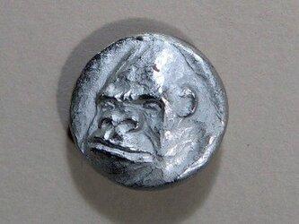 ゴリラのボタン(大)の画像
