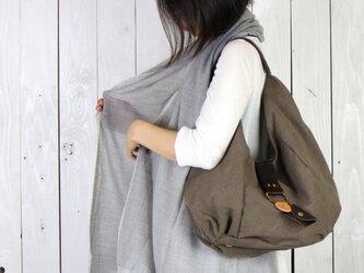 polta-オリーブ(タンニン染め帆布×レザーバッグ)の画像