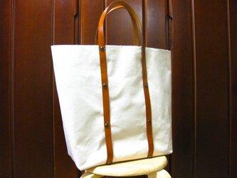 キャンバス素材 大きめトートバッグの画像