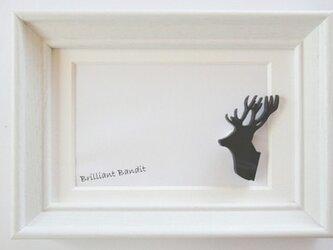 【鹿のトロフィー】 ブローチの画像