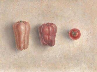 ピーマンとプチトマトの画像