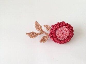 お花のブローチ  (あか)の画像