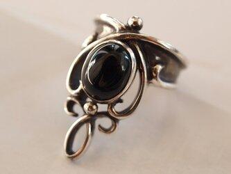 オニキスのリング(受注制作)の画像