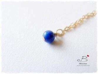 N005ラピスラズリの一粒ネックレスの画像