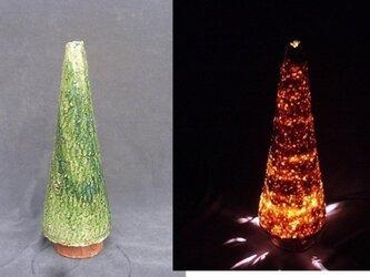 灯り「耀光の宙]クリスマスツリー総織部「やすら木」の画像