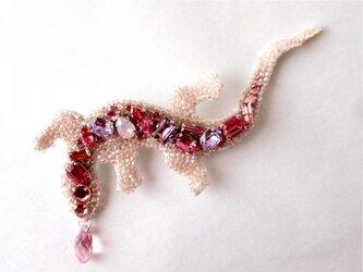 トカゲ(ピンク)の画像
