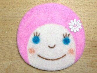 コースター おんなのこ〈ピンク〉の画像
