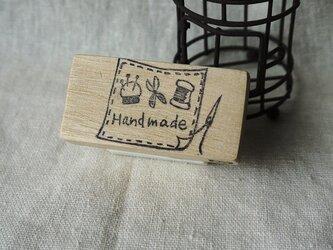 Hand madeはんこ(ソーイングセット柄)の画像