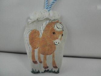ビスケット色の小さな馬の飾り(c)再販 の画像