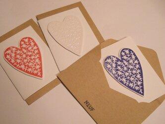 ハートのメッセージカード(3 set)の画像