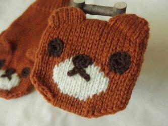 くま手袋(大人用)の画像