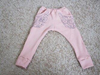 プチサルエルパンツ ピンク 100サイズ アニマル柄の画像