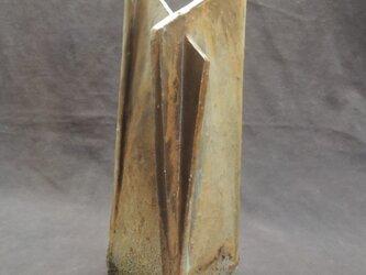 花器  [緋炎粉引き灰被り]「四面斜花器」の画像