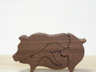Buta (animal puzzle )の画像