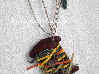 ウッドスプールネックレスの画像