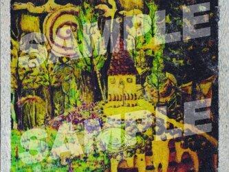 木のポストカード『お菓子の家』の画像