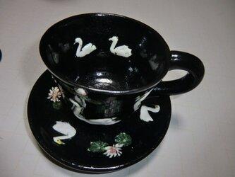 白鳥と睡蓮のカップ&ソーサの画像