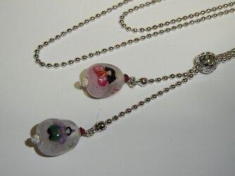 2玉スライドネックレス(雛:ピンク)の画像