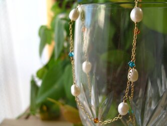 Freshwaterpearl necklace vitaminの画像