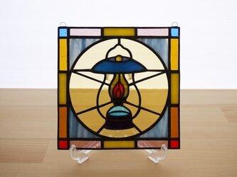 [ご予約分] ステンドグラス ミニパネル ランタン 15cmの画像