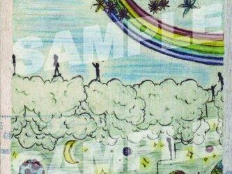 木のポストカード『雲の住人』の画像