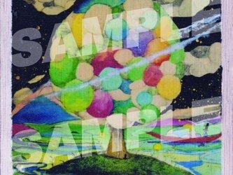 木のポストカード『星島』の画像