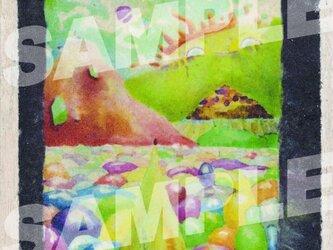 木のポストカード『アート村』の画像