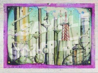 木のポストカード『工場ちたい』の画像