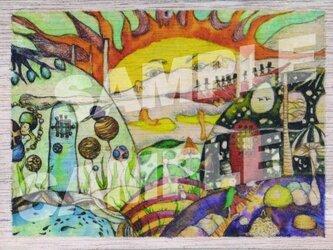 木のポストカード『アート村2』の画像
