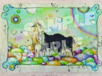 木のポストカード『犬のワンダーランド』の画像