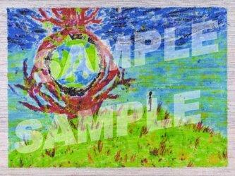 木のポストカード『地球の木』の画像