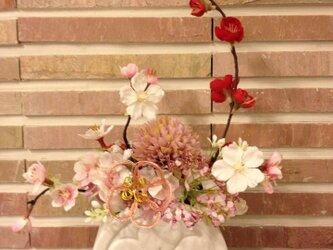 雛祭り◆春色満載の和風アレンジの画像