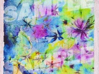 木のポストカード『花のトランペット』の画像