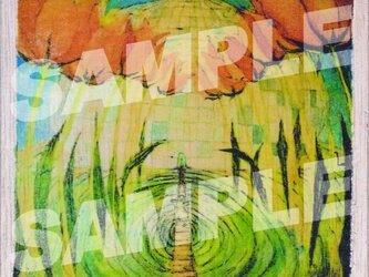 木のポストカード『花ドーム』の画像