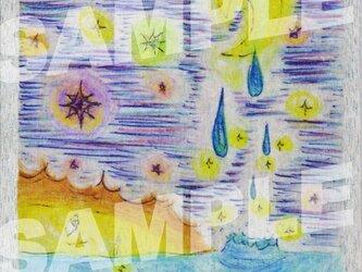 木のポストカード『涙の行方』の画像