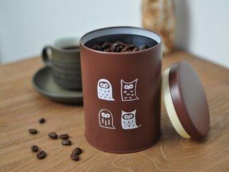 ふくろうの珈琲缶の画像