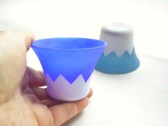 223(富士山)ぐいのみ「ブルー」の画像