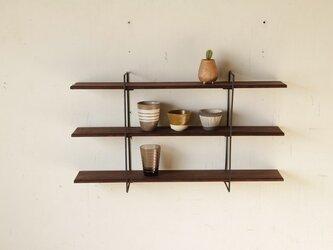 鉄の壁掛け棚 / アイアンウォールシェルフ / 棚板Lサイズの画像