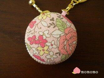 小花柄♪マカロンコインケース キーホルダーの画像