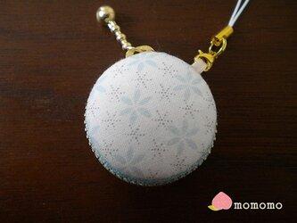 雪の結晶柄♪マカロンコインケース ストラップの画像